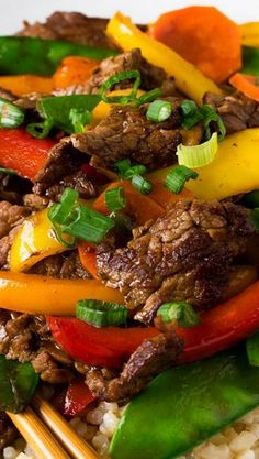 Beef Teriyaki and Vegetables - This is yummy! A bit labor intensive but worth the effort.