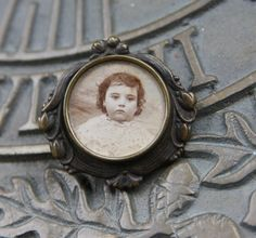 Victorian Mourning Baby Picture Pin