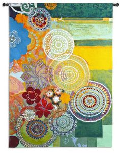 Lace Curve Tapestry Wall Hanging - Contemporary Abstract Design, 53in x 72in