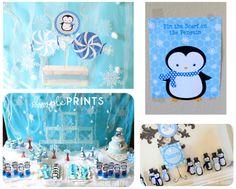 Cute DIY polar bear & penguin winter birthday party