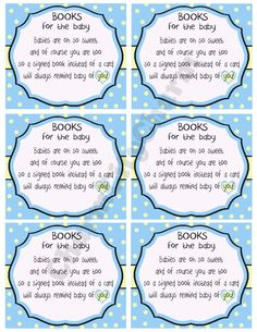 Bring a Book Instead of a Card Invitation Inserts, Baby Boy Shower Invitations, Blue and Yellow, Shower Book Cards by charmcitycharm on Etsy
