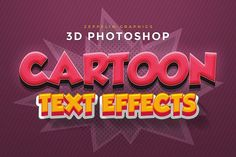 Cartoon Text Effects by Zeppelin Graphics on @creativemarket