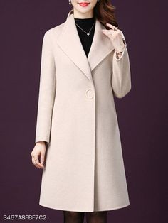Lapel Plain Coats Find latest women's clothing, dresses, tops, outerwear, and other fashion clothing and enjoy the worldwide shipping # African Men Fashion, Womens Fashion, Latest Fashion, Cheap Fashion, Trendy Fashion, Fashion Online, Coats For Women, Clothes For Women, Cheap Clothes