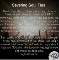 Prayer to repent of all ungodly soul ties