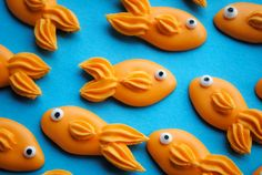 Royal Icing Goldfish Handmade Edible Sugar by cupcakesbychristy