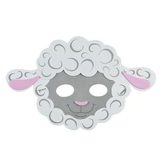 Lamb Mask Craft Kit - OrientalTrading.com All Craft, Crafts For Kids, Sheep Mask, Easter Gift Baskets, Basket Gift, Foam Shapes, Easter Lamb, Oriental Trading, Party Accessories