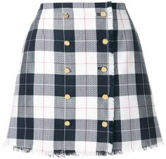 Thom Browne check mini skirt