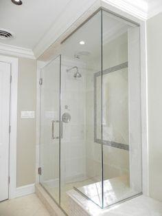 Master Bathroom Walk In Shower Farmhouse Google Search