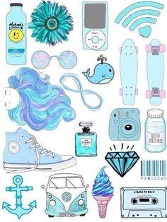 coisas azuis
