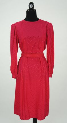 Vintage 1980s Hot Pink Argenti Silk Dress with by CeeLostInTime