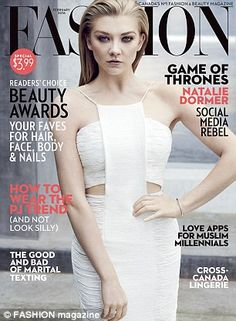 Braless Natalie Dormer shows off some sideboob in new photoshoot as she talks about her Game Of Thrones character   Daily Mail Online