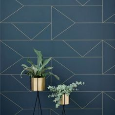 by Ferm Living ​ 'Lines' by Ferm Living features Art Deco metallic lines on contemporary colours creating an on-trend designer look  click here if you wish to order samples  easy paste the wall application pattern repeat 20 in roll 20.5 in wide, 33 ft long coverage 56 sq. ft.