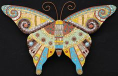 Bright II mosaic butterfly by Irina Charny