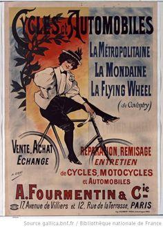 Cycles et automobiles La Métropolitaine... : [affiche] / [Henri Gray] - 1900