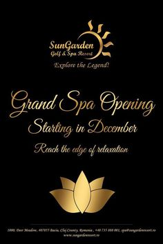 From December enjoy our new SPA circuit! The most mysterious PA Circuit in Transylvania! www.sungardenresort.ro