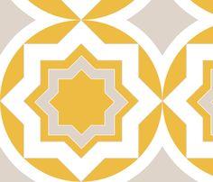 circlestar fabric by mgterry on Spoonflower - custom fabric