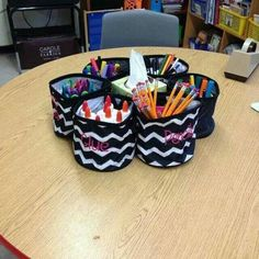 Thirty-One's Oh Snap! Bins perfect for organizing classroom supplies!
