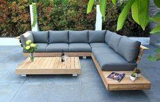How to Build a DIY Outdoor Sofa – Love & Renovations Garden Furniture Design, Wooden Garden Furniture, Outdoor Garden Furniture, Rustic Furniture, Antique Furniture, Furniture Layout, Furniture Dolly, Out Door Furniture, Patio Furniture Ideas