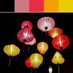 《Japanese Lanterns Palette》