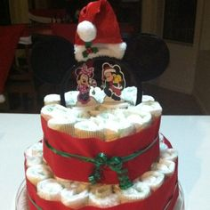The prefect holiday Diaper Cake. By BabyCakes Bakery