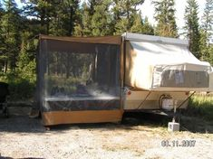 The Perfect Camping List - for family, and I love the screen room off this pop up, need one when we buy a camper! Tent Trailer Camping, Pop Up Tent Trailer, Tent Trailers, Tent Campers, Camping List, Camping World, Camping Hacks, A Frame Camper, Popup Camper