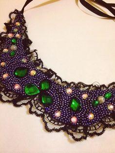 HANDMADE. necklace-handmade necklace-free shipping-statement necklace-Ukraine handmade-Beaded Jewellery