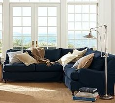 Slipcovered Sectionals & Carlisle Sectionals | Pottery Barn