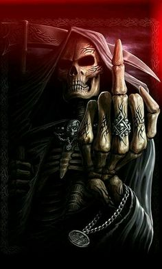 ~Flipping You Off † Grim Reaper ~
