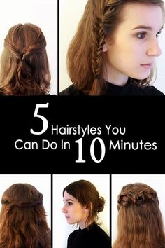 Struggling to know what to do with your hair in the morning? Let us make it easy for you - super easy. We've put together five easy, quick AND simple hairstyles that anyone can do in less than 10 minutes...