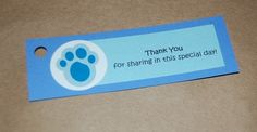 Blues Clues Inspired Party Favor Tags (set of 10)- Pick Your Colors. $5.50, via Etsy.