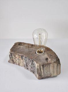 Driftwood lamp. #driftwood #lamp #utllitarian
