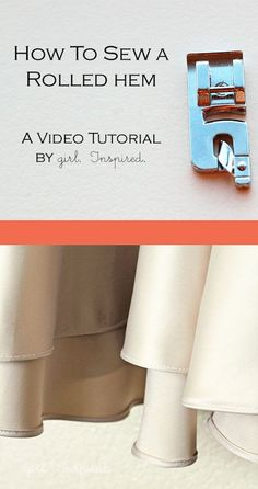 Great VIDEO tutorial showing how to use the rolled hem foot for curved or slippery fabric hems!!
