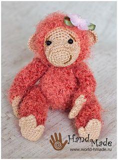 Обезьянка Лотти крючком. Описание вязания. Monkey free crochet pattern