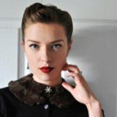 Elegant Musings Blog. Faux fur detachable collar