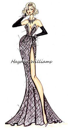 Hayden Williams Fashion Illustrations: Marilyn Monroe 50th Anniversary by Hayden Williams