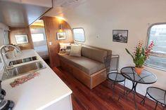 vintage trailer interior pictures | Restored Airstream interior | Vintage Trailer Remodel