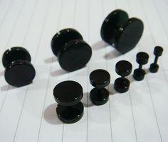 One Pair fake plugs ear plug rings earrings body piercing jewelry on Etsy, $3.59