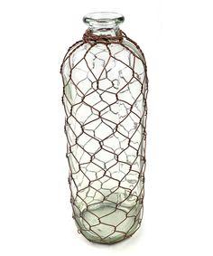 Do, upcycle liquor bottles ---  Another great find on #zulily! Wire Net Vase by Galt International #zulilyfinds