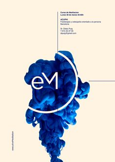 Poster by Xavier Esclusa Executive Meditation on Behance Layout Design, Graphisches Design, Flyer Design, Print Design, Logo Design, Design Bleu, Interior Design, Graphic Design Posters, Graphic Design Typography