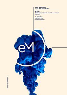 Posters By Xavier Esclusa Executive Meditation on Behance シャープな映像とミニマルなタイポグラフィが気持ちよい。ベースのベージュも効いている。