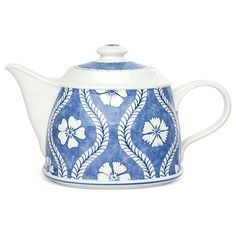 V&B - Farmhouse Touch Blueflowers Teapot | Peter's of Kensington