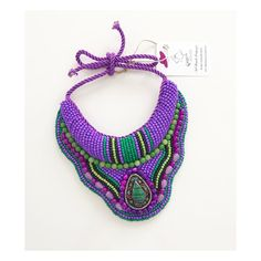 Purple Spring Necklace #handmade #accessories #springcollection #bohemian #africannecklace #tribal #shine