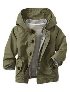 I love the sweatshirt lining in this! 3-in-1 parka | Gap