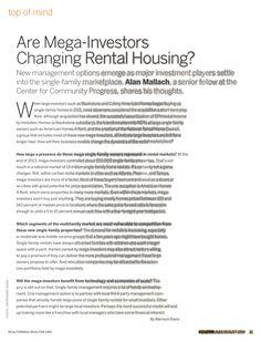 Realtor - Are Mega Investors Changing Rental Housing