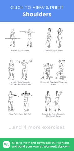 Shoulders – click to view and print this illustrated exercise plan created with #WorkoutLabsFit