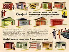 Mid Century Modern Crawford Garage Doors