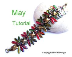 Tutorial May Daggers and Pyramid beads  Beadwork Bracelet PDF