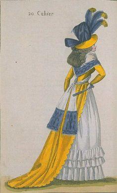 Journal de la Mode et du Gout, September 1790. Absolutely gorgeous! The colors…