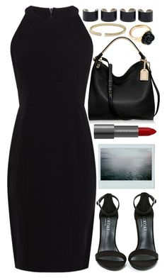 """Swazy"" by tinasxx ❤ liked on Polyvore featuring Shoe Cult, Karen Millen, Reed Krakoff, David Yurman, LeiVanKash, Maison Margiela, blackandgold, Dark, bag and blackdress"