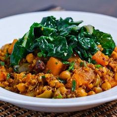 Butternut squash, chickpea and quinoa tagine - Delicious vegetarian swap-outs and alternative recipes for classic meat dishes Veggie Recipes, Vegetarian Recipes, Cooking Recipes, Healthy Recipes, Cheap Recipes, Cooking Pasta, Cooking Rice, Vegetarian Lunch, Cooking Salmon